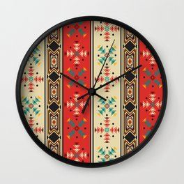 Navajo style pattern Wall Clock