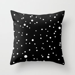 Black Rock Star Field Throw Pillow