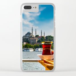 Tea time in istanbul Clear iPhone Case