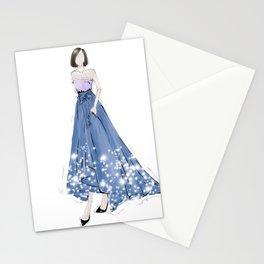 Blue dress Stationery Cards