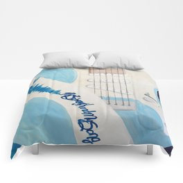 Blue Guitar and Strap Comforters