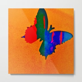 butterfly multicolor Metal Print