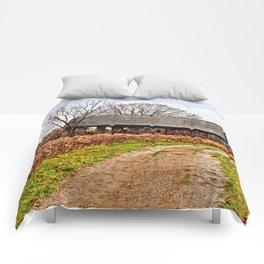 Wisconsin Old Barn 2 Comforters