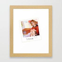 Kenma Cat Framed Art Print