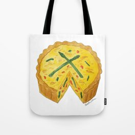 Q is for Quiche Tote Bag