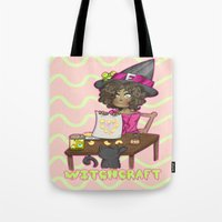 witchcraft Tote Bags featuring Witchcraft by Olivia Dierker