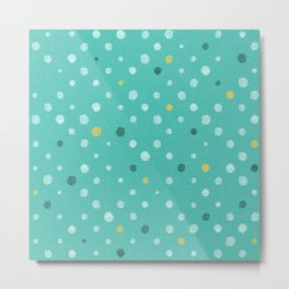LOTS OF DOTS / Marrs Green (World's favorite color*) Metal Print