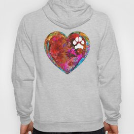 Dog Art - Puppy Love 2 - Sharon Cummings Hoody