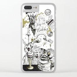 Kiss me I'm da butcher Clear iPhone Case