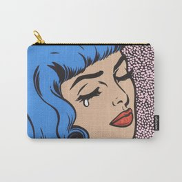 Blue Bangs Crying Girl Carry-All Pouch