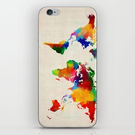 Map of the World Map Painting iPhone Skin