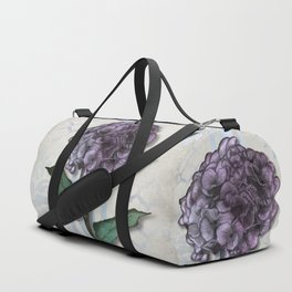 Hydrangea Damask and Quartrefoil Mixed Media Duffle Bag