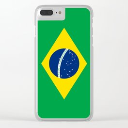 Flag of Brazil - Hi Quality Authentic version Clear iPhone Case
