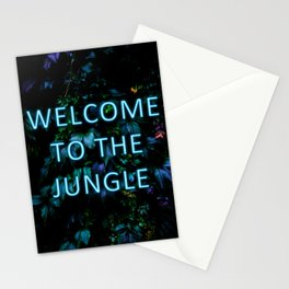 Welcome to the Jungle - Neon Typography Stationery Cards