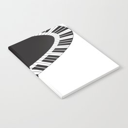 PIANO KEYS Pop Art Notebook
