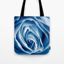 Blue Rose Macro Tote Bag