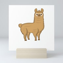 spit happens spit happens alpaca lama camel Mini Art Print