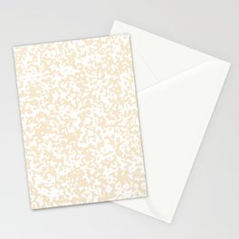 Small Spots - White and Champagne Orange Stationery Cards