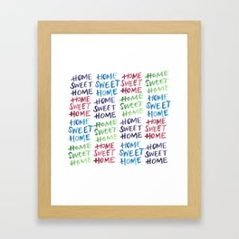 Home Sweet Home Multi-Color Framed Art Print