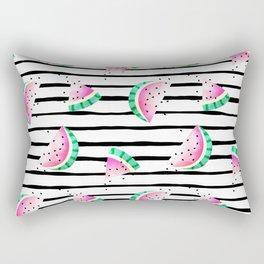 summer watermelon with black stripes. Rectangular Pillow