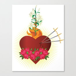Immaculate Heart of Mary Canvas Print