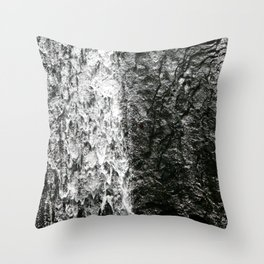 La Coca, El Yunque Rainforest in Puerto Rico waterfall Throw Pillow