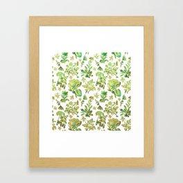 Beautiful Botanical Pattern Framed Art Print