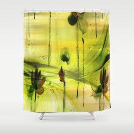 Dancing Flowers Abstract Shower Curtain