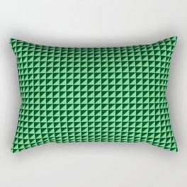 Green Triangulate Rectangular Pillow