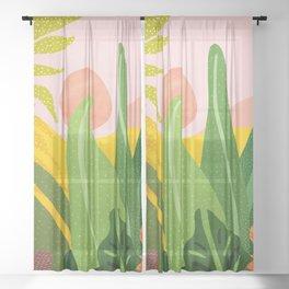 Jungle Morning Sheer Curtain