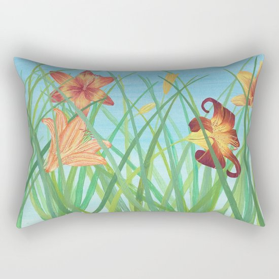 Lilly Garden Rectangular Pillow