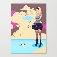 comic Canvas Prints featuring Comic by monoguru