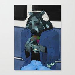 Raccoon self-portrait Canvas Print