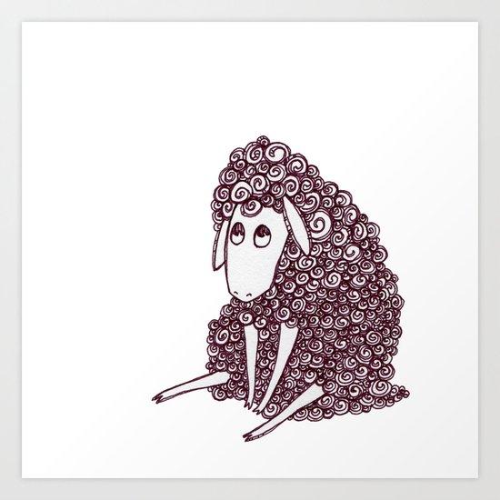 Sheepie Art Print