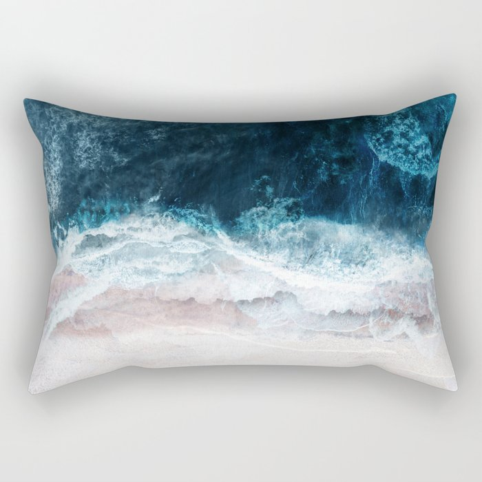 Blue Sea II Rectangular Pillow