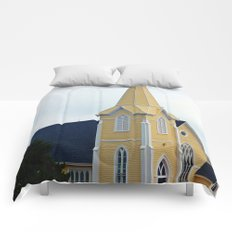 Small Yellow Church Comforters