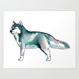 Balto - Dog Watercolour Painting Art Print