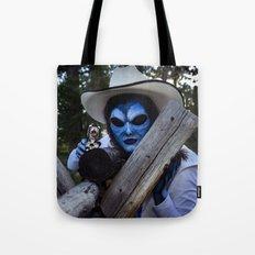 Alien Cowgirl II Tote Bag