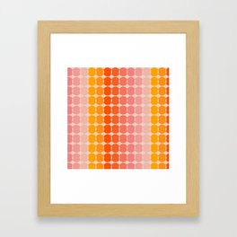 Strawberry Dots Framed Art Print