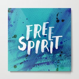 Free Spirit Blue Metal Print
