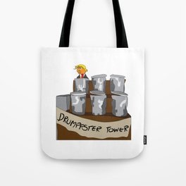Drumpfster Tower Tote Bag