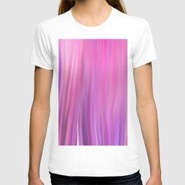 Modern pink violet lilac watercolor brushstrokes pattern T-shirt