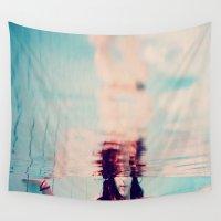 underwater Wall Tapestries featuring Underwater by MariBee