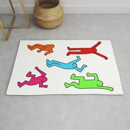 Dancers inspired to Keith Haring Rug