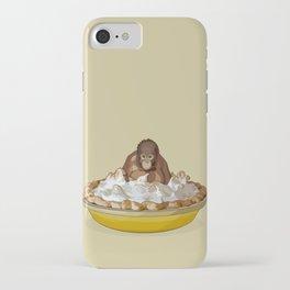Lemon 'Merangutan' Pie - Orangutan Monkey in Lemon Meringue Pie iPhone Case