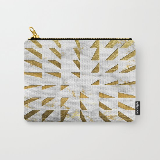 Marble and Gold Pattern #4 Carry-All Pouch