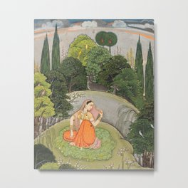 The Heroine Who Waits Anxiously for Her Absent Lover Metal Print