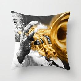 Louis Armstrong Trumpet Music Musician Jazz Throw Pillow