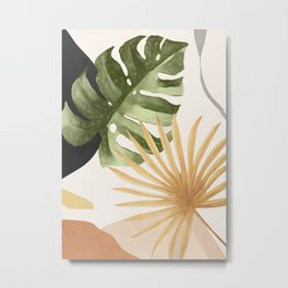 Abstract Art Tropical Leaves 22 Metal Print