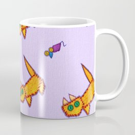 Very positive vintage cats and mouses on canvas print Coffee Mug